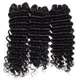 onda profunda brasileira do cabelo Curly brasileiro barato não processado brasileiro profundo brasileiro do Virgin do Weave do cabelo da onda 4PCS do cabelo do Virgin 8A