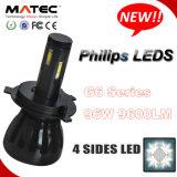 Acessórios de peça automática longa H4 H7 9005 9006 H13 H11 Farol de LED para carro com 48W 4800lm Chip Phillips