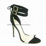 Sapatas de vestido novas do salto elevado da forma das mulheres do estilo com dedo do pé da espreitadela