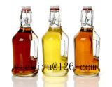 bottiglia di vetro dell'all'aceto della bottiglia di olio 150ml con metallo Pourer