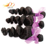 自然な黒1bのブラジルのバージンの毛の緩い波のRemyの毛の織り方