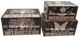 S/3 декоративные предметы антиквариата Vintage Вселенной дизайн прямоугольные печати фиолетового цвета кожи/MDF деревянные окна соединительных линий для хранения