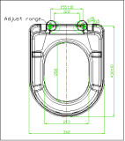 D-Form-Arbeitskarte-Sitzdeckel mit Weiche-Abschluss-Funktion