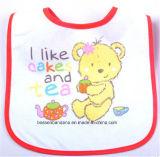 Soem-Erzeugnis passte Firmenzeichen gedruckte weiße Baumwollterry-fördernde Baby-Schellfische an