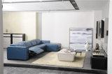 Sofá de Couro Colorido Baixo Suporta a Mobília