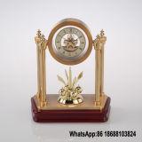 Mini relógio de metal esqueleto com pêndulo rotativo
