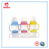 Grau alimentício Feediing Bebé garrafa de plástico com Base de mudança de cor 150ml