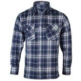Ropa a medida para hombres Fabricante formales a cuadros de manga larga camisas