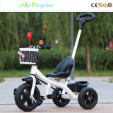 トロリー子供の車輪の子供の三輪車は補助機関車が付いている子供の自転車の子供の自転車を手で押す