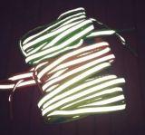 La moda colorida reflectante 3m zapato cordones de zapato
