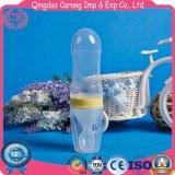 Silikon sprizen Säuglingsnahrung-zugeführte führende Flasche mit Löffel