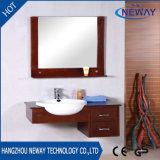 An der Wand befestigter Spiegel-festes Holz-Badezimmer-Großhandelsschrank
