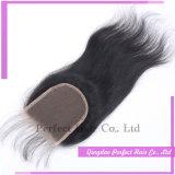 100 chiusure dei capelli del tessuto della chiusura del merletto del Virgin dell'essere umano