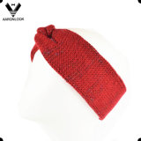 Lady Fashion Acrílico e Lurex Knitted Shiny Headband