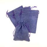 Bolso azul del regalo de la cadena del yute del color
