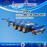 최신 판매 콘테이너 트럭 트레일러, 끝 해골 콘테이너 수송 세미트레일러