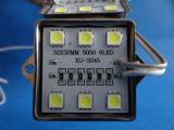 4 módulo de acero de la cubierta LED de las virutas 5050 SMD para la carta de canal