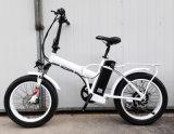 Рамка сплава 20 дюймов складывая электрический Bike с тучной автошиной