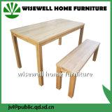 Mesa de comedor de madera maciza bicolor