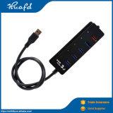 Les petits points de vente rapide 5Gbit/s 5 ports USB 3.0 HUB USB pour ordinateur de paillasse
