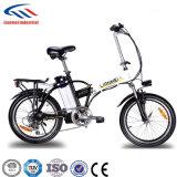 Bicicleta de dobramento da bateria de lítio da bicicleta da potência do motor elétrico de Lianmei - suspensão cheia