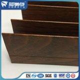 Perfil de aluminio del grano de madera de roble T5 del OEM 6063 para el marco de ventana
