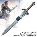 Espada 104cm HK8484A de Larp Warcraft da espada de Lothar do filme de Warcraft