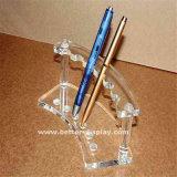 Support en cristal acrylique clair fait sur commande de crayon lecteur