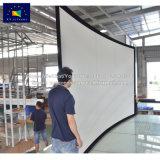 XyscreenはサイズDIYによって曲げられたプロジェクタースクリーンの催し物装置をカスタマイズした