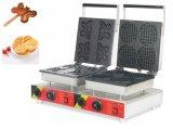 Коммерческие пекарня двойной вафель утюг Maker бумагоделательной машины с помощью пользовательских