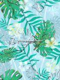 Seide-Schal des Grünpflanze-Art-Zoll-100%