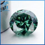 둥근 H&a는 15mm를 캐럿 아주 화려한 진한 녹색 다채로운 합성 Moissanite 10의 원석 잘랐다