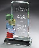 Premio de cristal de colores para el recuerdo