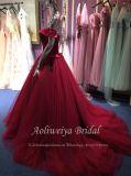 Aoliweiya spätester Entwurfs-rotes Ballkleid-Partei-Kleid