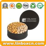Poder de estaño Nuts del alimento del almacenaje del estaño del metal redondo vacío del rectángulo