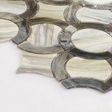 Efecto de madera de cristal gris del azulejo de mosaico para la pared Splashback del cuarto de baño de la cocina
