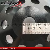 125mm de segmento de linha pedra abrasiva Rebolo com conector 22.23mm
