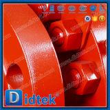 Didtek ha forgiato la valvola a sfera messa metallo del perno di articolazione con l'attrezzo di vite senza fine