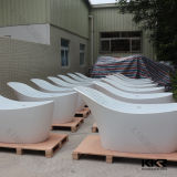 Sanitaryware 인공적인 대리석 돌 독립 구조로 서있는 온수욕 통