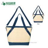 Economici all'ingrosso personalizzano il sacchetto di Tote del dispositivo di raffreddamento della tela di canapa di stampa di marchio