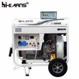 type de bâti 6kw ouvert refroidi à l'air début électrique de générateur diesel (DG8000E)