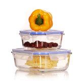 800ml vierkante Hittebestendige Doos 21103 van de Lunch van de Container van de Lucht van het Glas Strakke