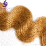 금발 색깔 인간적인 Virgin 머리 길쌈