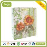 La moda verde girasol revestido de arte bolsas de papel de regalo