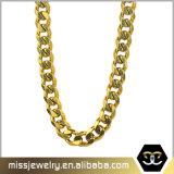 Venta al por mayor cubana de imitación italiana del encadenamiento del oro de la conexión de Missjewelry 18K