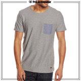 Maglietta normale organica di abitudine della maglietta del cotone dell'uomo promozionale