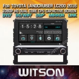 Witson coche Reproductor de Windows DVD multimedia para Toyota Landcruiser LC200 2016