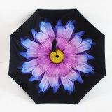 [دووبل لر] مبتكر مع [ك] مقبض داخلة - مظلة عكسيّة صامد للريح ترويجيّ خارجا
