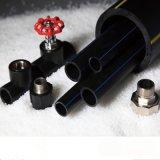Plástico del negro del tubo del HDPE tubos de agua de 6 pulgadas