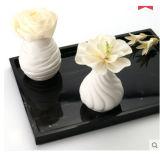 Populär weißer keramischer Vase 110ml mit künstlicher Sola Blume für Aroma-REEDdiffuser- (zerstäuber)geschenk-Sets